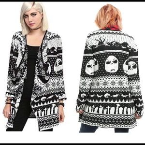 The Nightmare Before Christmas Cardigan Sweater S